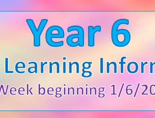 Home Learning Information – 1/6/20