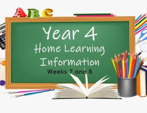 Year 4 Home Learning Weeks 7 and 8 w/c 13/07/2020