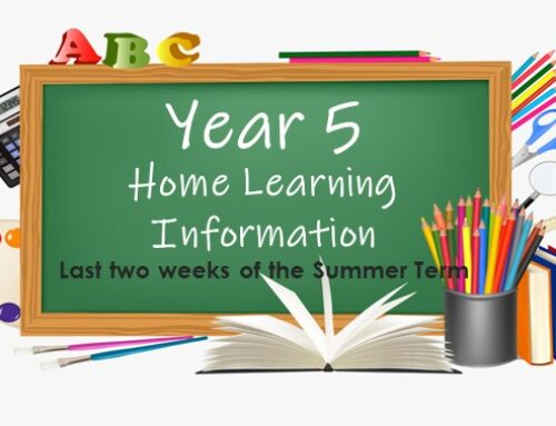 Year 5 Home Learning – last two weeks!
