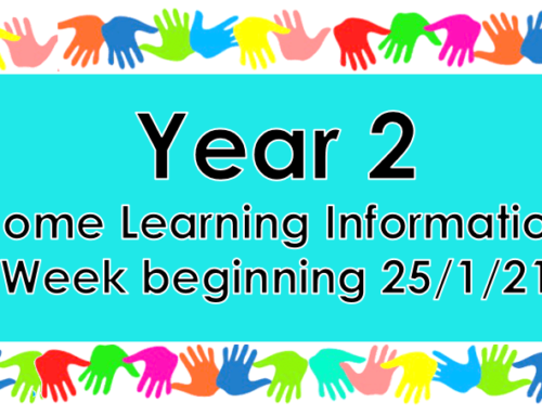 Year 2 Home Learning 25.1.21