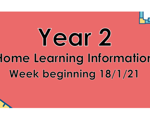 Year 2 Home Learning 21.1.21