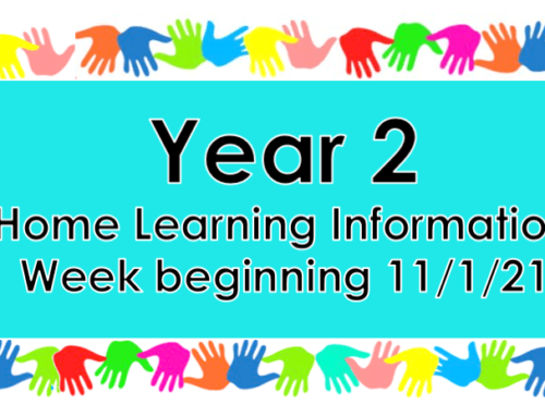 Year 2 Home Learning Tuesday 12th January