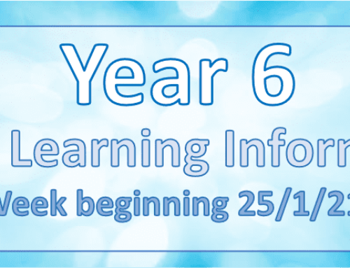 Home Learning – Week Beginning 25/01/2021