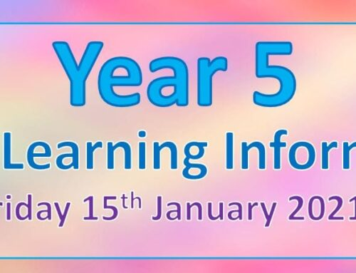 Year 5 Home Learning – Friday 15th January 2021