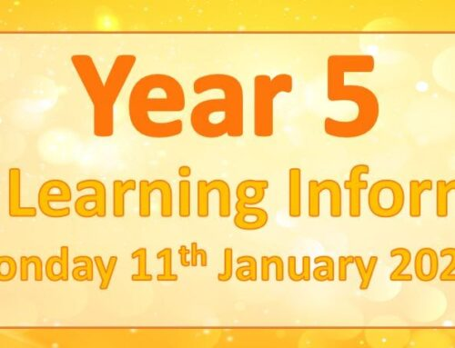 Year 5 Home Learning – Monday 11th January 2021