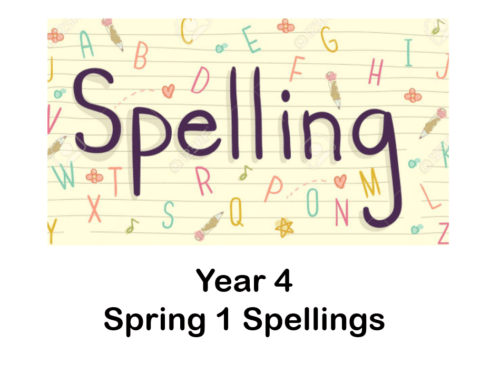 Year 4 Spring 1 Spelling Lists