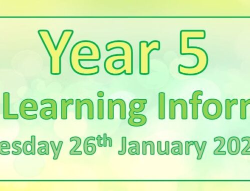 Year 5 Home Learning – Tuesday 26th January 2021