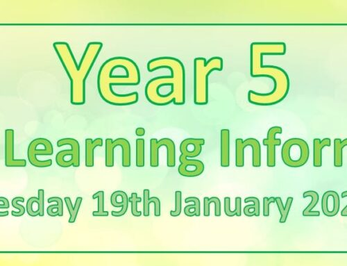 Year 5 Home Learning – Tuesday 19th January 2021