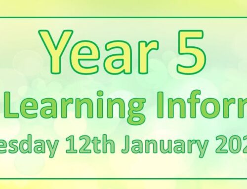 Year 5 Home Learning – Tuesday 12th January 2021