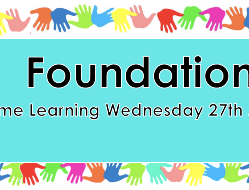 Foudation Home Learning Wednesday 27th Jan