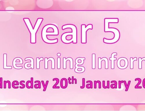 Year 5 Home Learning – Wednesday 20th January 2021