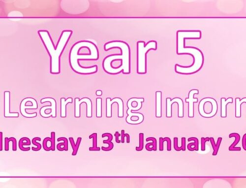 Year 5 Home Learning – Wednesday 13th January 2021