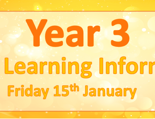 Year 3 Remote Learning Friday 15th January 2021