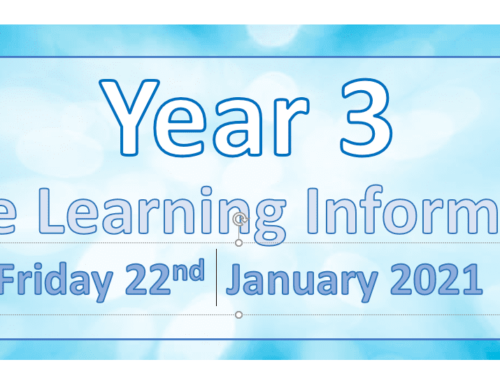 Year 3 Remote Learning Friday 22nd January 2021