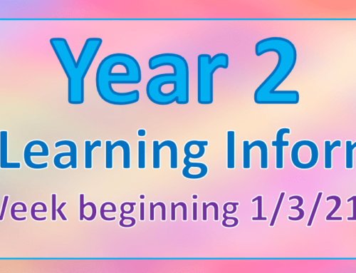 Year 2 Home Learning Wednesday 3rd March