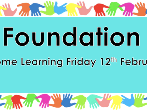 Home Learning Friday 12th February