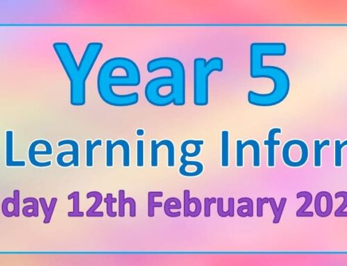 Year 5 Home Learning – Friday 12th February