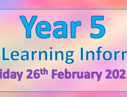 Year 5 Home Learning – Friday 26th February 2021