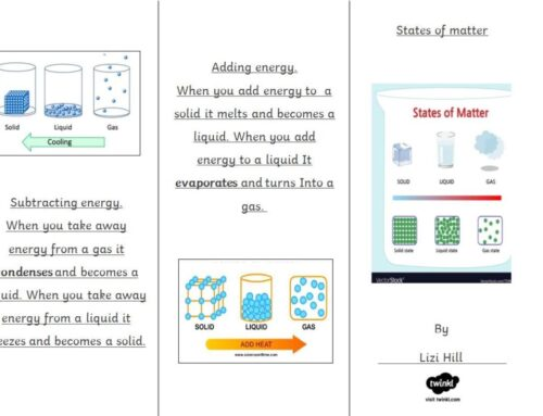 Year 4 States of Matter Leaflets