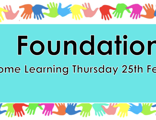 Home Learning Thursday 25th February