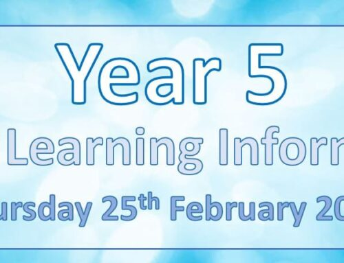 Year 5 Home Learning – Wednesday 24th February 2021
