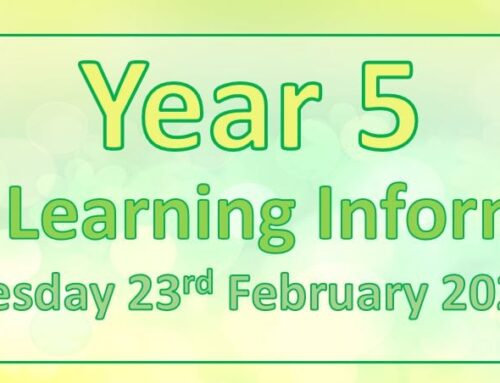 Year 5 Home Learning – Tuesday 23rd February 2021