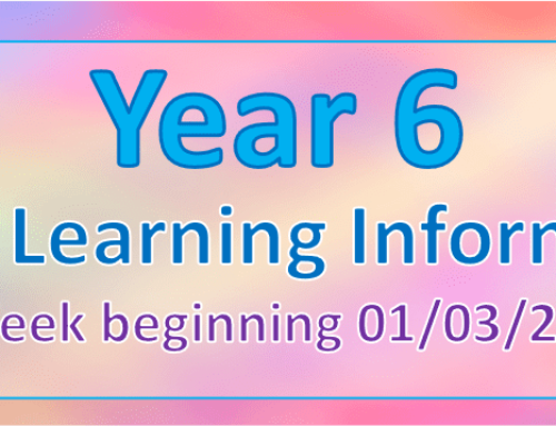 Year 6 Home Learning – Spring 2 Week 2