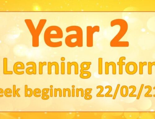 Year 2 Home Learning Wednesday 24th February