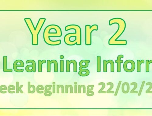 Year 2 Home Learning Thursday 25th February
