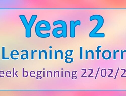 Year 2 Home Learning 26.02.21