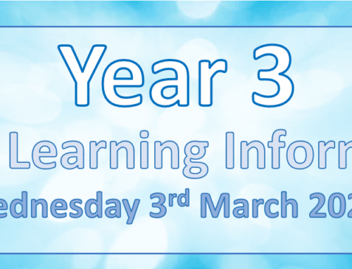 Year 3 Home Learning Wednesday 3rd March 2021