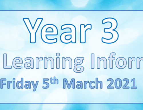 Year 3 Home Learning Friday 5th March 2021