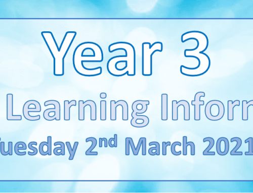 Year 3 Home Learning Tuesday 2nd March 2021