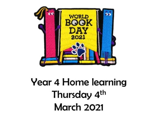 Year 4 celebrate World Book Day at home and at school!