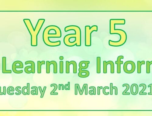 Year 5 Home Learning – Tuesday 2nd March 2021