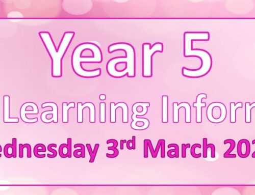 Year 5 Home Learning – Wednesday 3rd March 2021