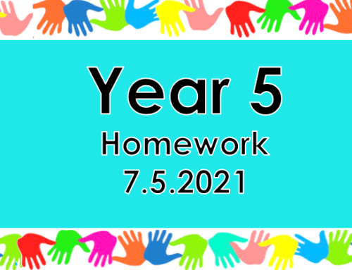 Year 5 Homework – Friday 7th May 2021