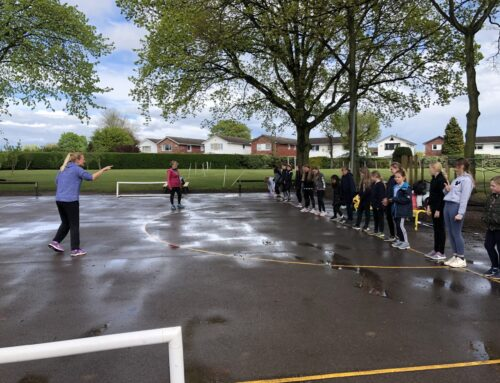 Year 5 girls were delighted to finally be able to start netball club!
