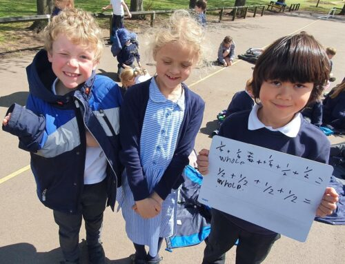 Year 2 enjoy a spot of maths outside!